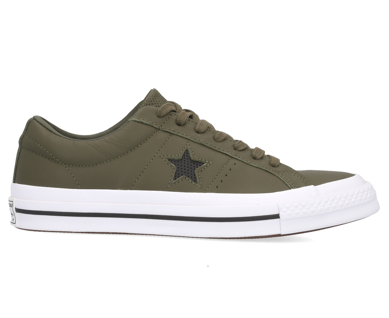 Details about Converse Men's One Star Ox Sneakers HerbalBlackWhite