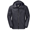 Jack Wolfskin Sierra Trail Mens Texapore Ecosphere Waterproof Jacket - Ebony 1