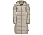 Jack Wolfskin Womens Crystal Palace RDS Down Insulated Coat - dusty grey 1