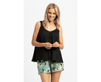 KAJA Clothing VENICE Shorts - Green Print 100% viscose 1