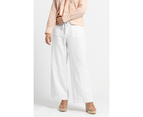 KAJA Clothing JADA Pants - Lined - White Linen Cotton 2