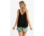KAJA Clothing VENICE Shorts - Green Print 100% viscose 2