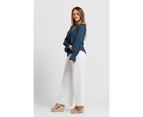 KAJA Clothing JADA Pants - Lined - White Linen Cotton 3