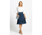 KAJA Clothing SHELLY Skirt - Navy 100% Cotton 1