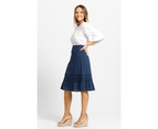 KAJA Clothing SHELLY Skirt - Navy 100% Cotton 2