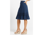 KAJA Clothing SHELLY Skirt - Navy 100% Cotton 3
