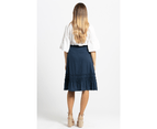 KAJA Clothing SHELLY Skirt - Navy 100% Cotton 4