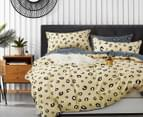 Gioia Casa James 100% Cotton Reversible King Bed Quilt Cover Set - Multi 2