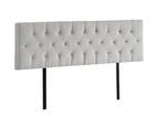Linen Fabric King Bed Deluxe Headboard Bedhead - Beige 5