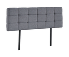 Linen Fabric Queen Bed Deluxe Headboard Bedhead - Grey 5