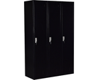 Three-Door Side by Side Office Gym Shed Storage Locker 5