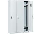 Three-Door Side by Side Office Gym Shed Storage Locker 4