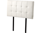 PU Leather Single Bed Deluxe Headboard Bedhead - White 4