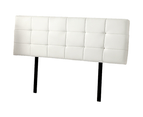 PU Leather King Bed Deluxe Headboard Bedhead - White 5