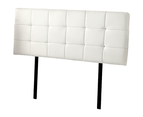 PU Leather Queen Bed Deluxe Headboard Bedhead - White 5
