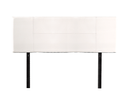 PU Leather Queen Bed Headboard Bedhead - White 5