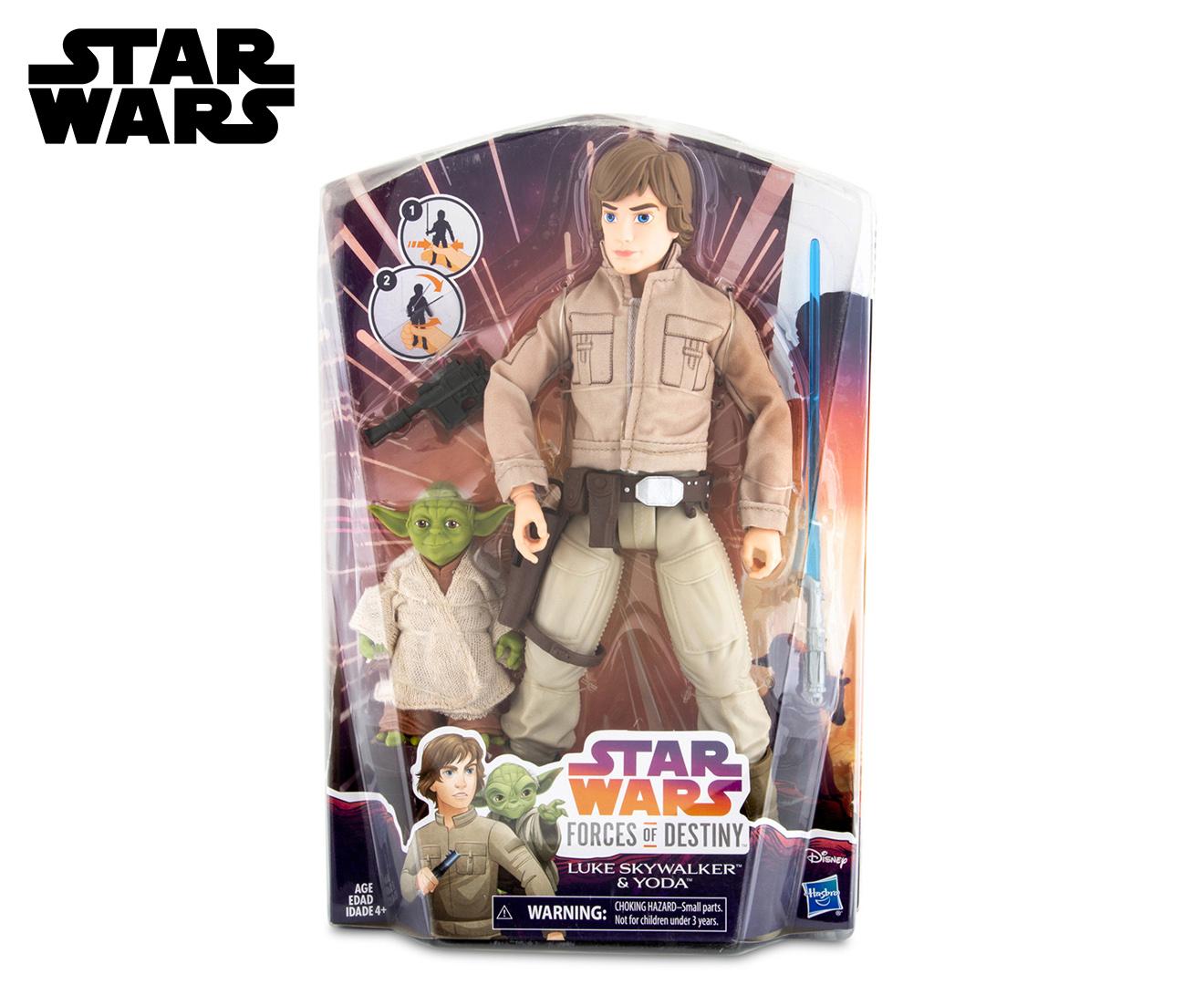 "Star Wars Forces of Destiny 11/"" Luke Skywalker and Yoda Adventure Figure Set"