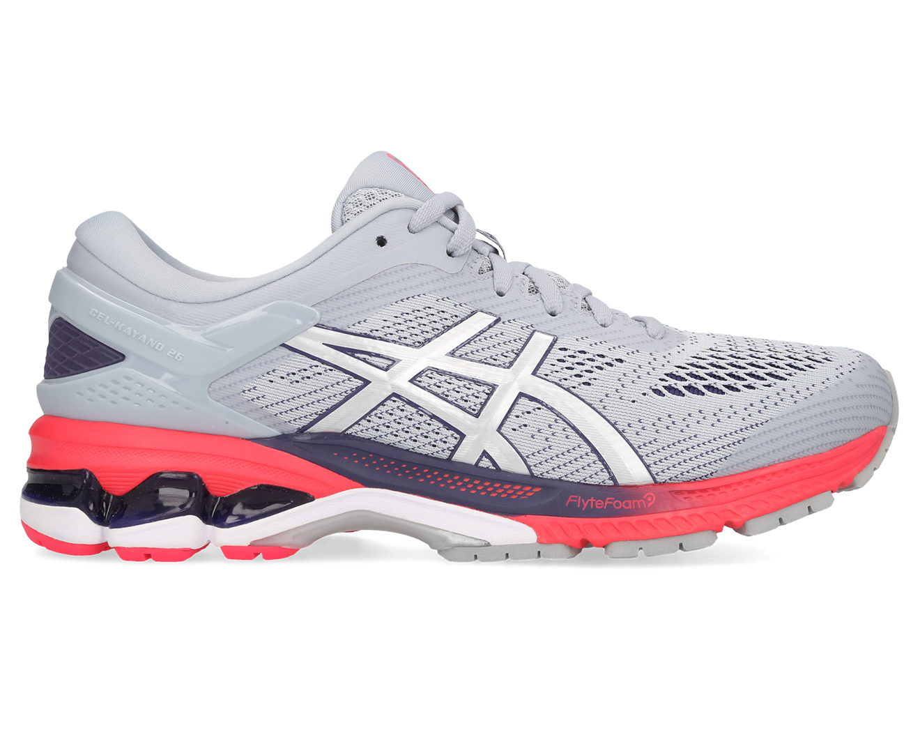 Details about ASICS Women's GEL Kayano 26 Running Shoes Piedmont GreySilver