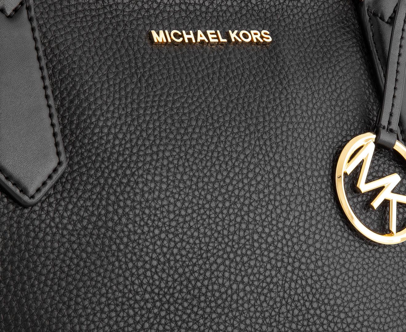 Michael Kors Kimberly Small Bonded Tote Bag Black