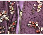 Dolce & Gabbana Purple Floral Lace Crystal Embedded Dress Purple GSD12637 5