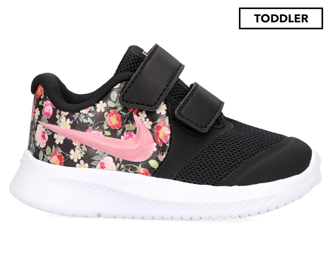 Nike Toddler Girls' Star Runner 2 Vintage Floral Shoes BlackPink TintPale Ivory