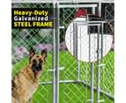 Pet Dog Kennel Enclosure Playpen Puppy Run Exercise Fence Cage Play Pen A4 8