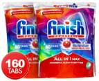 2 x 80pk Finish Powerball Super Charged All In One Max Dishwashing Tablets 1