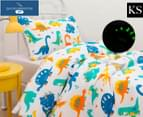 Daniel Brighton Junior Glow In The Dark King Single Bed Quilt Cover Set - Dinosaur 1