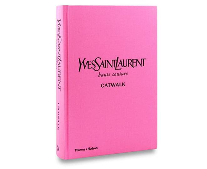 Yves Saint Laurent Catwalk Hardcover Book by Olivier Flaviano