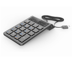 Bluetooth Number Pad Portable Bluetooth 19-Key Numeric Keypad Keyboard Extensions for Financial Accounting Data Entry-Black 2