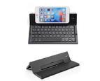 Bluetooth Folding Keyboard 3 System Universal Mobile Phone Tablet Aluminum Folding Wireless Keyboard-Black 1