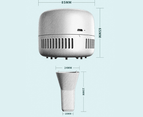 Creative Mini Rechargeable Desktop Vacuum Cleaner Portable USB Keyboard Vacuum Mini Cleaner-Blue 2