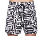Calvin Klein Men's Quiltwork Euro Volley Swim Short - White 2