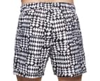 Calvin Klein Men's Quiltwork Euro Volley Swim Short - White 3