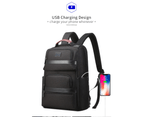 """Bopai Luxury Style Leather & Microfibre Anti-Theft Business and Travel with USB Charging Backpack B5311 Black 15.6"""" Laptop 4"""