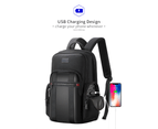 "Bopai Luxury Style Leather & Microfibre Anti-Theft Business and Travel with USB Charging Backpack B5511 Black 15.6"" Laptop 4"