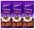 3 x Cadbury Baking Chocolate Block Milk Chocolate 180g 1
