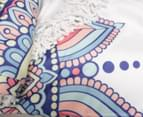 TODO Luxury Thick Microfiber Round Beach Towel Throw Rug Ttowel Tribal Flower 2
