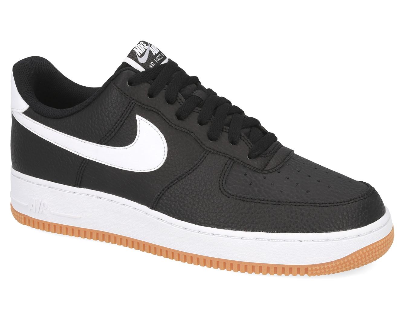 Nike Men's Air Force 1 '07 2 Sneakers BlackWhiteWolf Grey