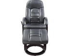 PU Leather Massage Chair Recliner Ottoman Lounge Remote 6