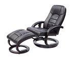 PU Leather Massage Chair Recliner Ottoman Lounge Remote 5
