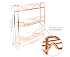 3 Tier Herb & Spice Rack | M&W Rose Gold 3