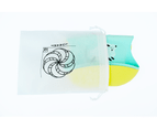 Set of 2 | Aussie Brand  Lunart Ultra-Soft Lamb Silicone Bib in a Gift Bag  (Sky Blue & Honey Bee Yellow) 2