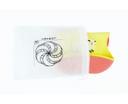 Set of 2 | Aussie Brand  Lunart Ultra-Soft Lamb Silicone Bib in a Gift Bag  (Honey Bee Yellow & Coral Pink) 2