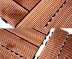 Greenlund Timber Outdoor Tiles Straight 5-Pack - Brown 6
