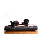 Dog Mattress Bed, Faux Leather & Fur Chocolate 2