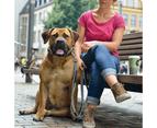 Hunter Canadian Elk Leather Dog Training Lead, 3-Way Adjustable - Black/Cognac 2