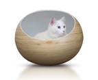Wooden Pet Bed, Elevated Bamboo Pet Cave for Cats & Small Dogs - Slate 3