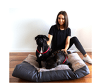 Dog Mattress Bed, Faux Leather & Fur Chocolate 3