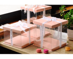 Cake Box 30cm_dia Clear: Black top and bottom:  For  Double Layer (2 Tier) cake 2